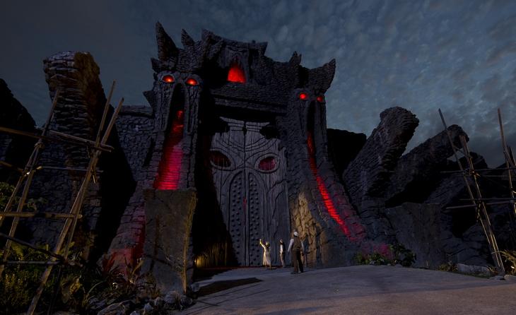 Skull Island Reign of KongGreat WallNight time shotIOA