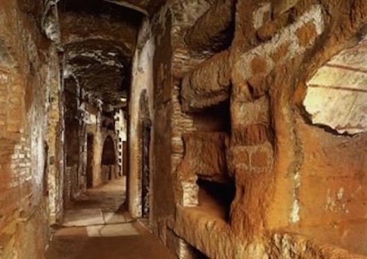 Rome Chrétienne et ses monuments - EUGENE DE LA GOURNERIE - 1867 Catacomb-of-domitilla