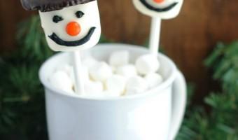 Christmas Treat Recipe: Marshmallow Peanut Butter Chocolate Snowman