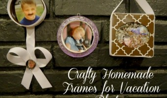 Crafty Homemade Frames for Vacation Photos