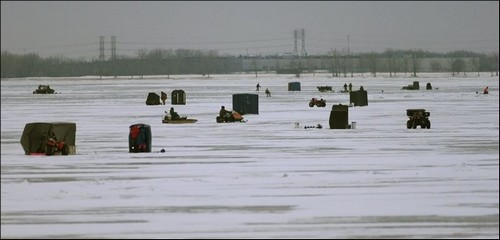 Ice Fishing On Lake Erie – The Thrilling Winter Beauty of Lake Erie Shores & Islands