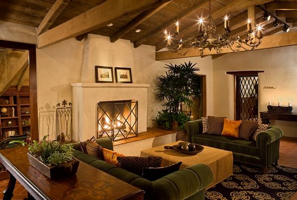 Lobby Living Fireplace