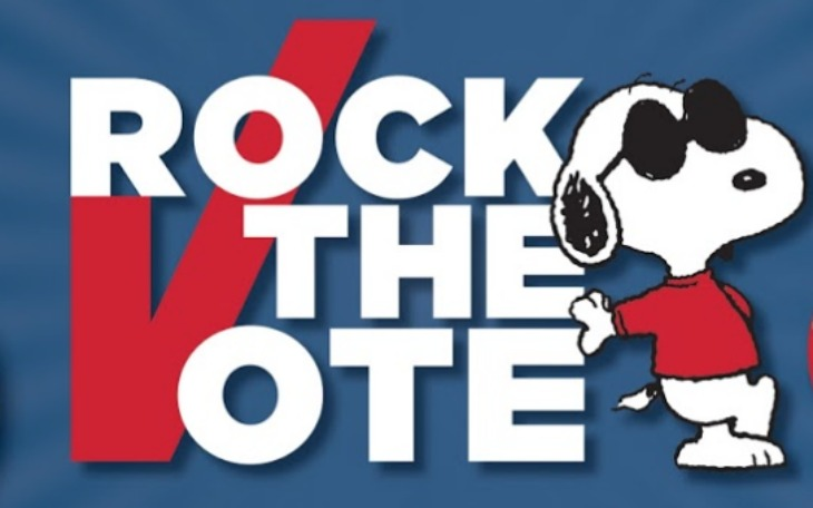 Nikki Deloach Promotes Peanuts Quot Rock The Vote Quot Initiative