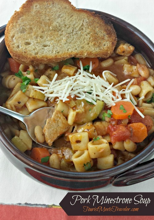 Bring The Taste of Rome Into Your Home! Pork Minestrone Soup Recipe