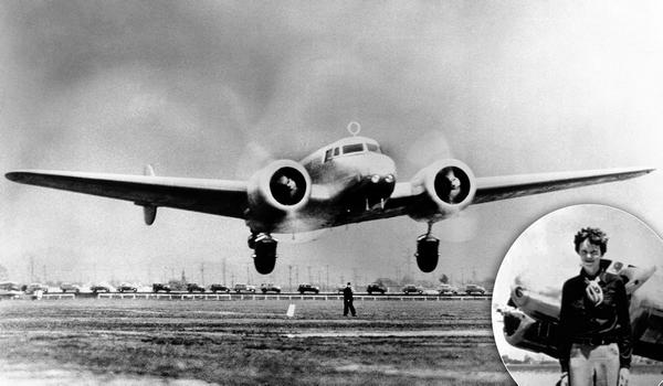 amelia earhart - plane