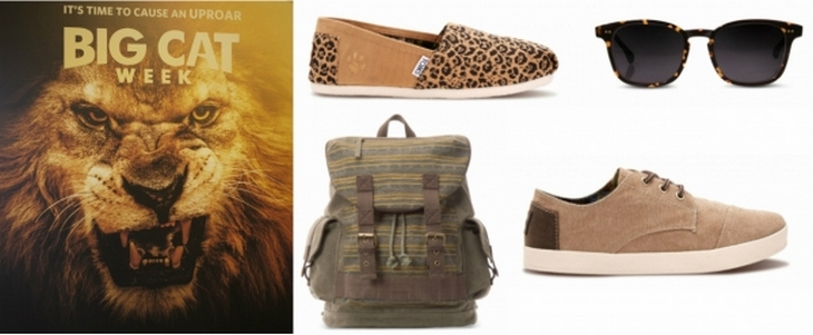 National Geographic Teams Up With TOMS - Spread Awareness and Help Save Big Cats